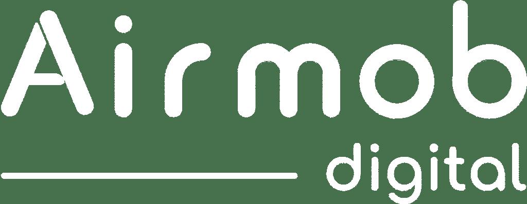 logo Airmob Digital blanc