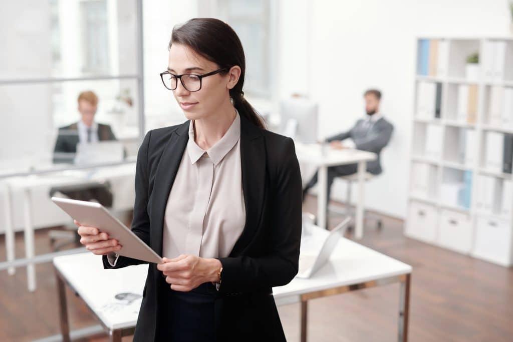 business woman digital